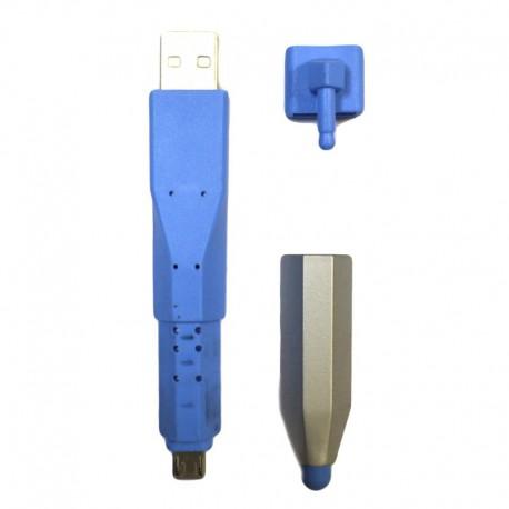 Стилус-маркер USB - Micro USB Blue (Синий)