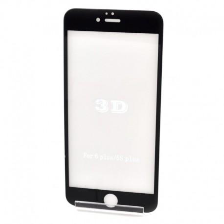 Защитное стекло 3D Glass Rock iPhone 6G+ Black (Черный) Перед