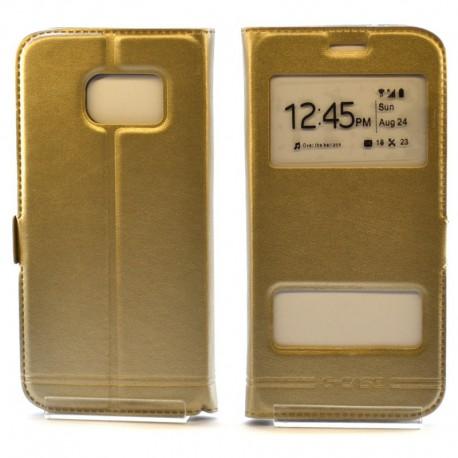 Чехол-книжка G-CASE Samsung Galaxy S7 Gold (Золотой)