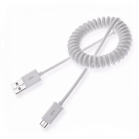 Кабель HTC USB - Micro USB витой White (Белый)