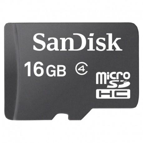 Карта памяти microSD SanDisk 16 Gb 4 Class
