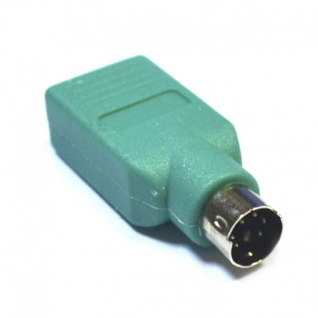 Переходник PS 2 (мышь, клавиатура) - USB (мама)