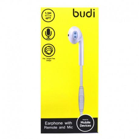 Наушники Budi 101EP в 1 ухо White (Белый)