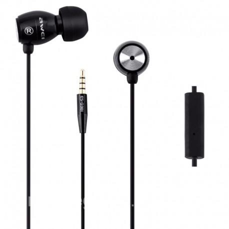 Проводные вакуумные наушники с микрофоном Awei Q38i