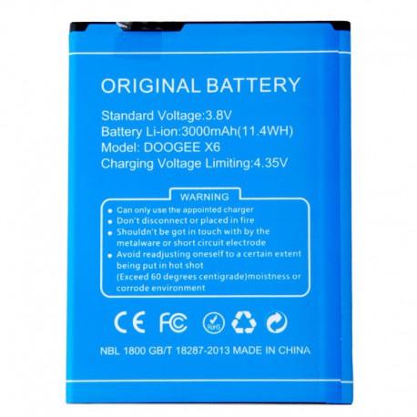 Аккумуляторная батарея для Doogee X6/X6 Pro 3000 mAh