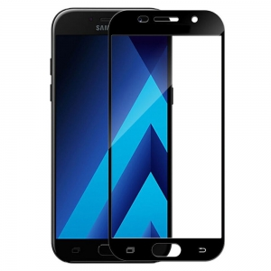 Защитное стекло 3D GLASS HOCO Samsung Galaxy A5 2017 Duos A520 Black (Черный)