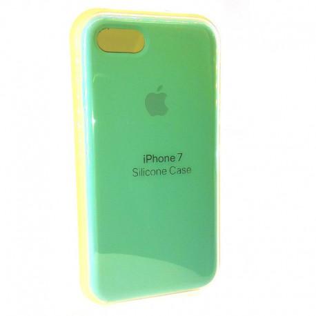 Силиконовый чехол (silicone case) iPhone 7G Mint (Мятный)