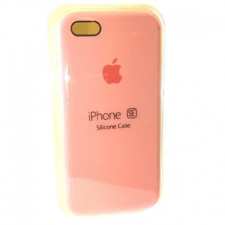 Силиконовый чехол (silicone case) iPhone 5G/5S/5SE Pink (Розовый)