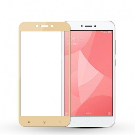 Защитное стекло 2.5D GLASS HOCO Xiaomi Redmi 4x Gold (Золотой)