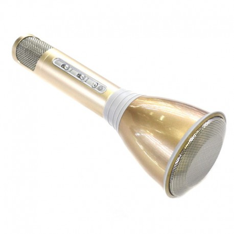 Bluetooth колонка-микрофон + караоке Tuxun K068 Gold (Золотой)