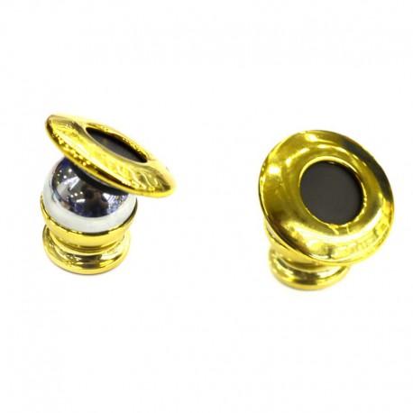 Держатель для телефона в авто, магнитный металлический шар, на торпеду Gold (Золотой)