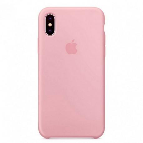 Силиконовый чехол Silicone Case iPhone X/Xs Pink (Розовый)