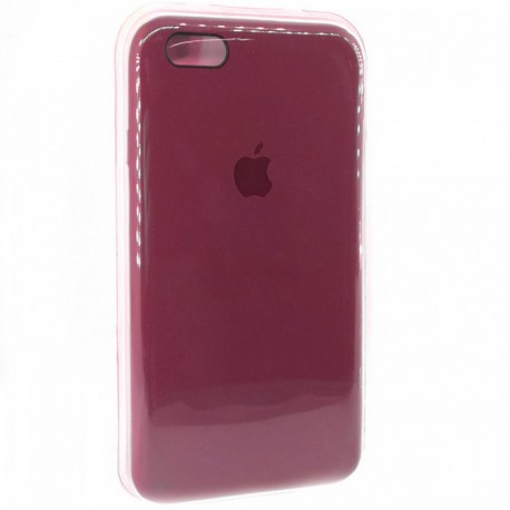 Силиконовый чехол (silicone case) iPhone 6G/6S Rose Red