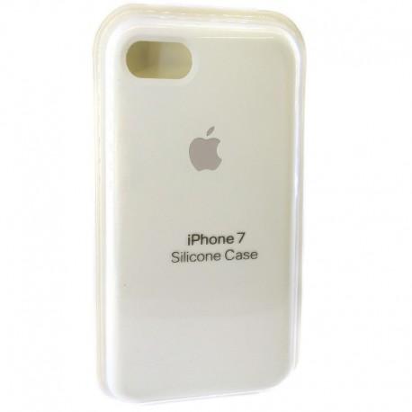 Силиконовый чехол (silicone case) iPhone 7G White (Белый)