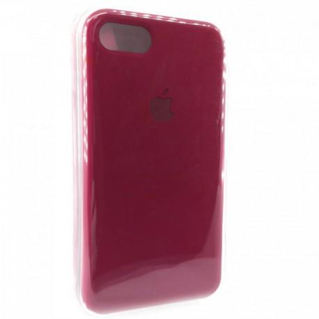 Силиконовый чехол (silicone case) iPhone 7G Rose Red
