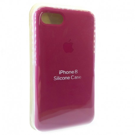 Силиконовый чехол (silicone case) iPhone 8G Rose Red