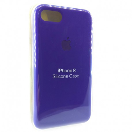 Силиконовый чехол (silicone case) iPhone 8G Ultra Violet