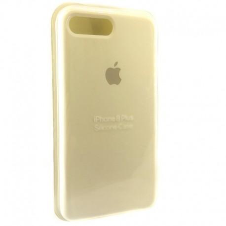 Силиконовый чехол (silicone case) iPhone 8G+ White (Белый)