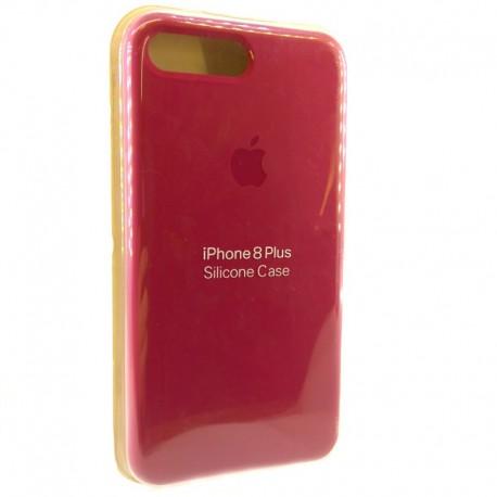 Силиконовый чехол (silicone case) iPhone 8G+ Rose Red