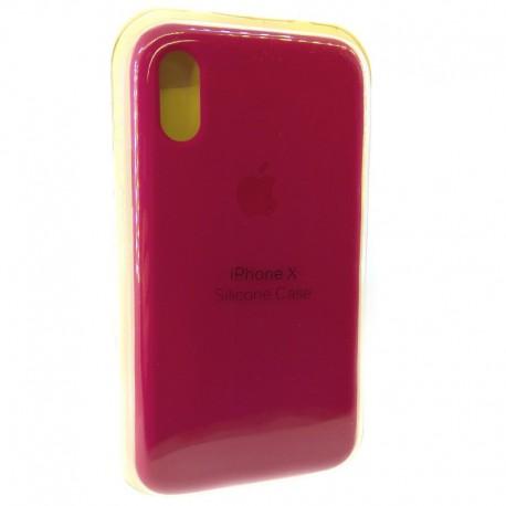 Силиконовый чехол (silicone case) iPhone X Rose Red