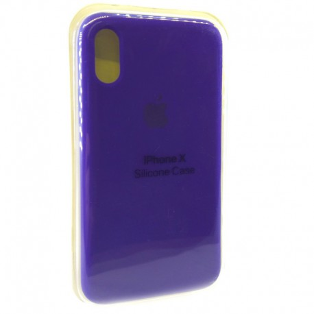 Силиконовый чехол (silicone case) iPhone X Ultra Violet