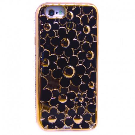 Силиконовый чехол Joyroom Flowers iPhone 6G/6S Black (Черный)
