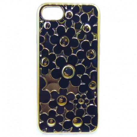 Силиконовый чехол Joyroom Flowers iPhone 7G Black (Черный)