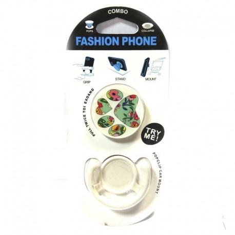 Попсокет (Popsocket) держатель для телефона 3в1 Flowers (type 1)