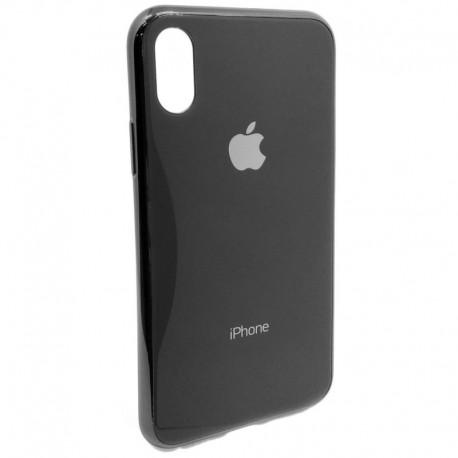 Чехол пластиковый Original Glass Case для iPhone X/Xs Black