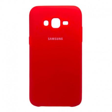 Силиконовый чехол (silicone case) Samsung Galaxy J7 Red (Красный)