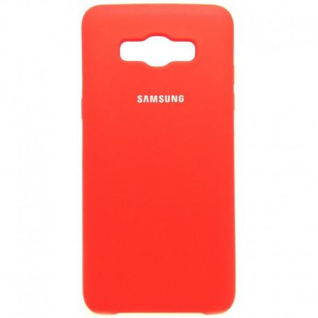 Силиконовый чехол (silicone case) Samsung Galaxy J5 2016 J510 Red (Красный)