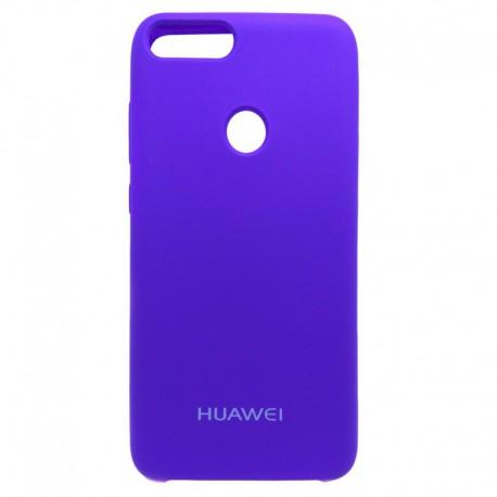 Силиконовый чехол (silicone case) Huawei P Smart Purple (Фиолетовый)