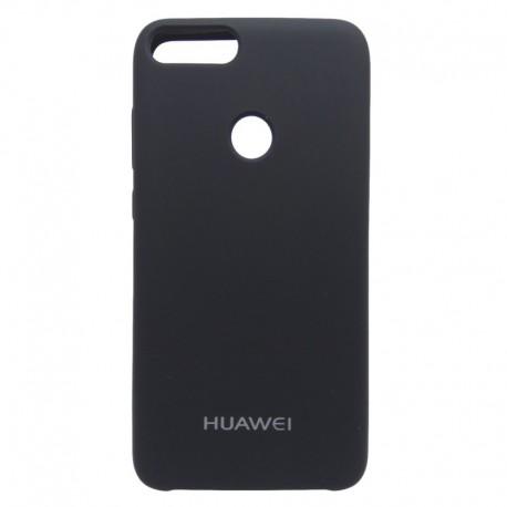 Силиконовый чехол (silicone case) Huawei P Smart Black (Черный)