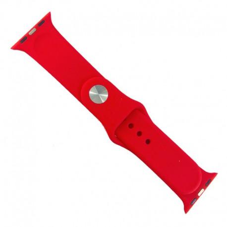 Силиконовый ремешок с софт-тач покрытием Watch 38-40мм Red Rose