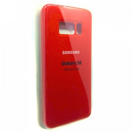 Силиконовый чехол (silicone case) Samsung Galaxy S8 Red (Красный)