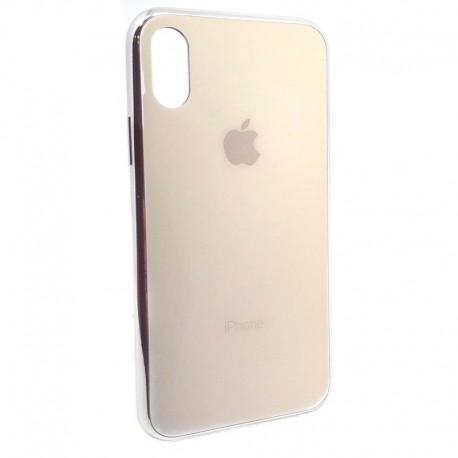 Чехол пластиковый Original Glass Case для iPhone X/Хs Gold