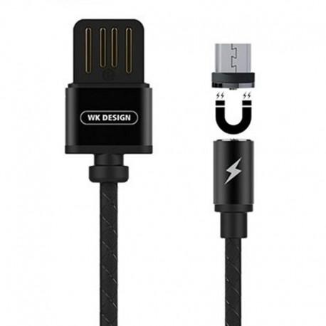 Кабель WK Design Magnetic 360* USB - V8 (micro USB) 1 м