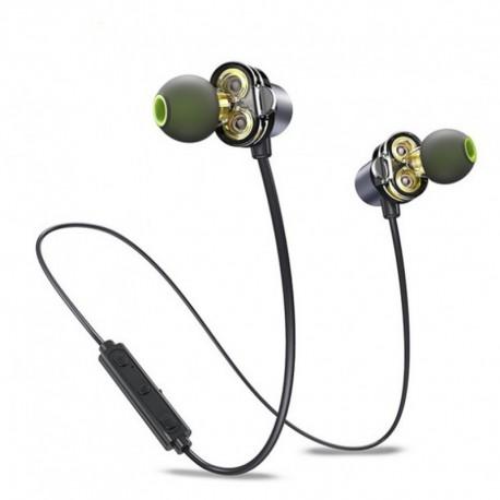 Стерео Bluetooth наушники AWEI X650BL Dual Dynamic + Magnetic Gold (Золотой)