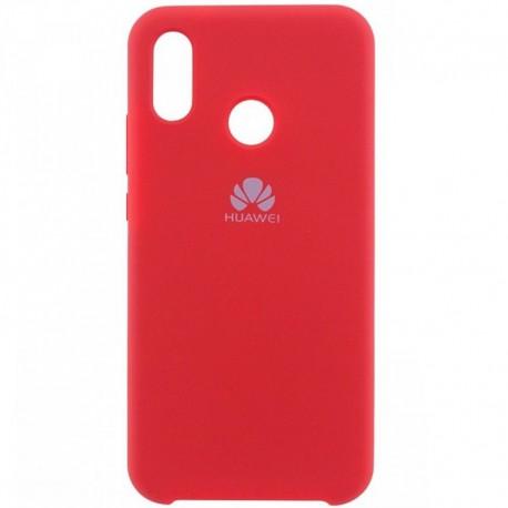 Силиконовый чехол (silicone case) Huawei P Smart Plus Red (Красный)