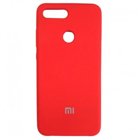 Силиконовый чехол (silicone case) Xiaomi Mi8 Lite Red (Красный)
