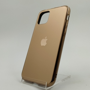 NEW ORIGINAL GLASS CASE MATTE Iphone 11 Gold