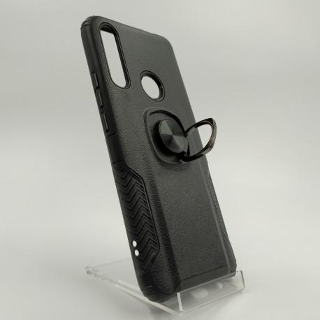 Противоударный чехол HONOR Premium с кольцом-держателем Huawei Psmart Z/Y9 2019 Black (Черный)