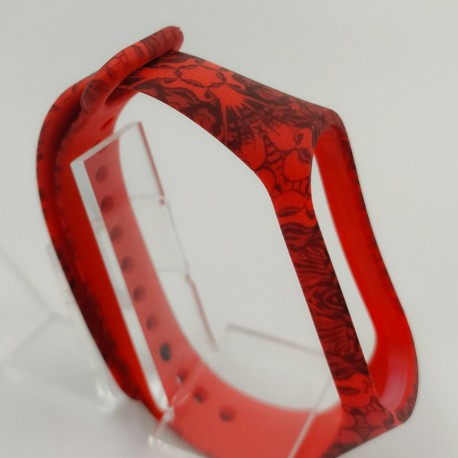 NEW Браслет для MiBand 3/4 Pattern Red