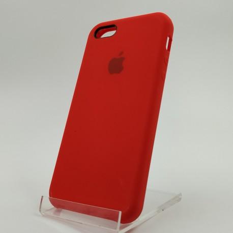 Оригинальный матовый чехол Silicone Case iPhone 5G/5S/5SE Red