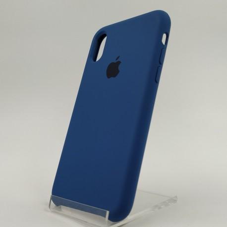 Оригинальный матовый чехол Silicone Case iPhone X Blue Cobalt