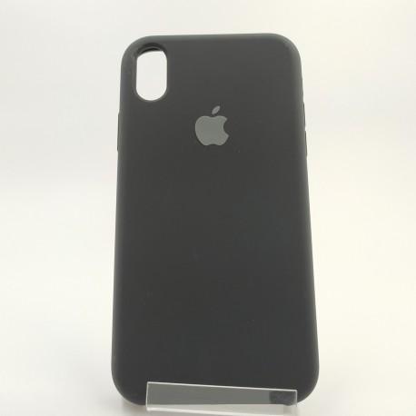Оригинальный матовый чехол Silicone Case iPhone X/Xs Black