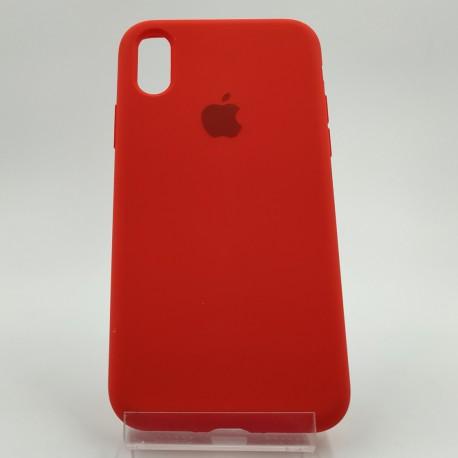 Оригинальный матовый чехол Silicone Case iPhone X/Xs Red