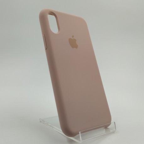 SILICONE CASE IPHONE Xs Matte pink