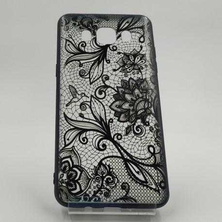 Ажурный чехол-накладка BLACK LACE Samsung Galaxy J5 2016 J510
