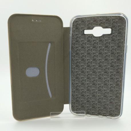 Кожаный противоударный чехол-книжка Nillkin Samsung Galaxy J7 Gold